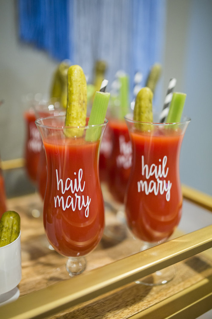 Bloody Marys from a Football Kickoff Party on Kara's Party Ideas | KarasPartyIdeas.com (12)