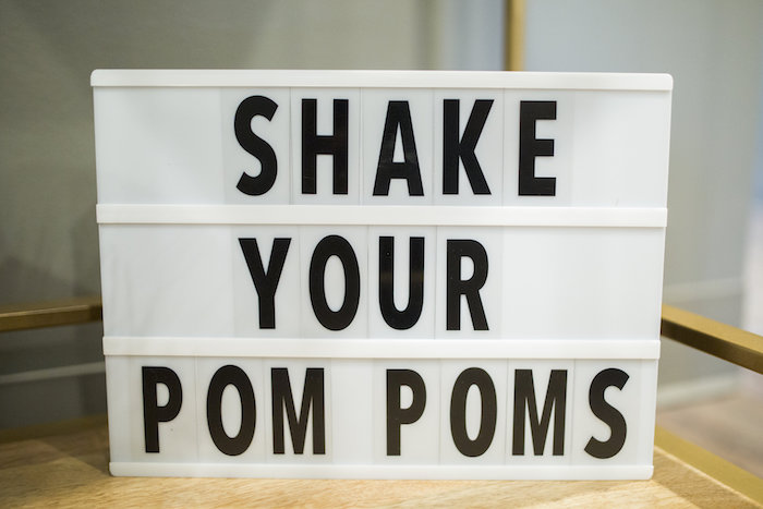 Shake Your Pom Poms Light box Sign from a Football Kickoff Party on Kara's Party Ideas | KarasPartyIdeas.com (11)