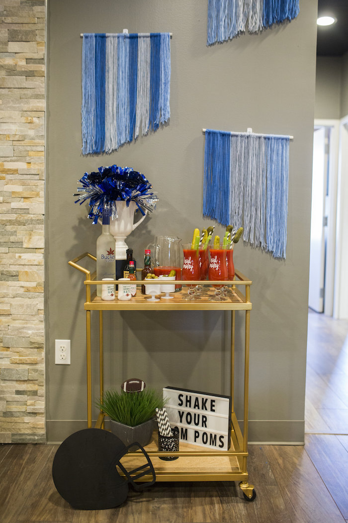 Bloody Mary Bar from a Football Kickoff Party on Kara's Party Ideas | KarasPartyIdeas.com (8)