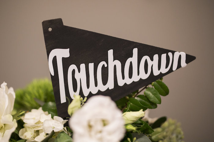 Touchdown pennant flag from a Football Kickoff Party on Kara's Party Ideas | KarasPartyIdeas.com (41)