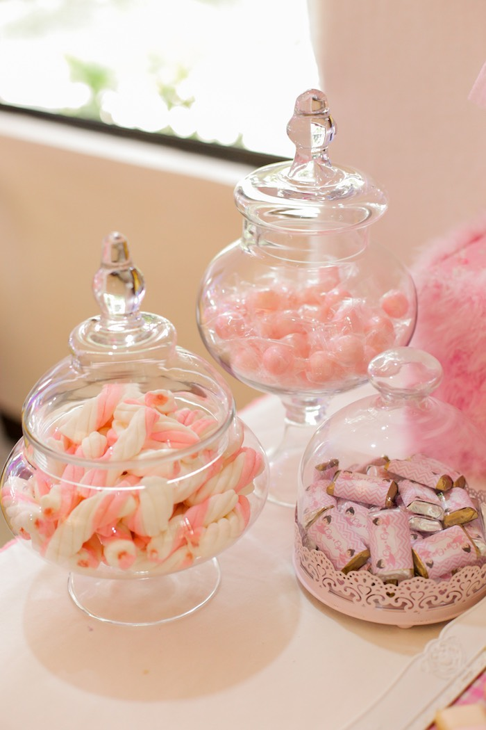 Candy buffet from a Garden Ballerina Birthday Party on Kara's Party Ideas | KarasPartyIdeas.com (13)