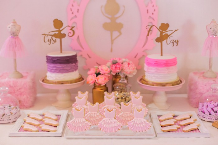 Ballet sweet table from a Garden Ballerina Birthday Party on Kara's Party Ideas | KarasPartyIdeas.com (10)