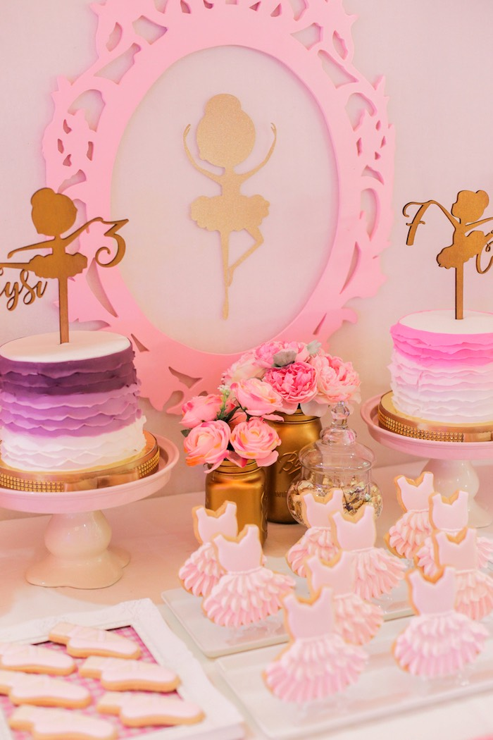 Garden Ballerina Birthday Party on Kara's Party Ideas | KarasPartyIdeas.com (7)