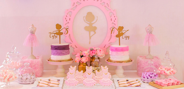 Garden Ballerina Birthday Party on Kara's Party Ideas | KarasPartyIdeas.com (6)