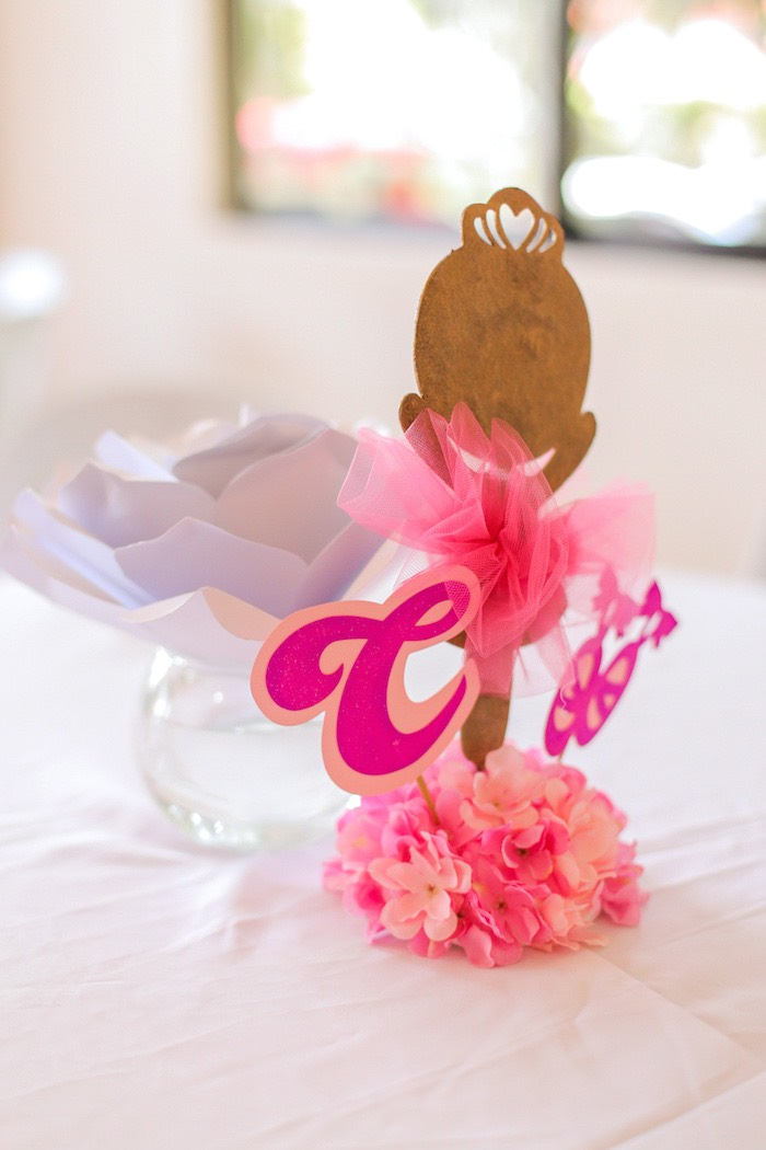 Ballerina table centerpiece from a Garden Ballerina Birthday Party on Kara's Party Ideas | KarasPartyIdeas.com (28)