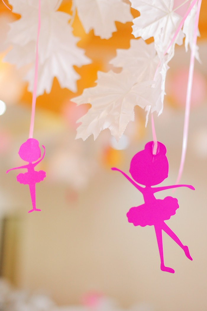 Ballerina bunting from a Garden Ballerina Birthday Party on Kara's Party Ideas | KarasPartyIdeas.com (27)