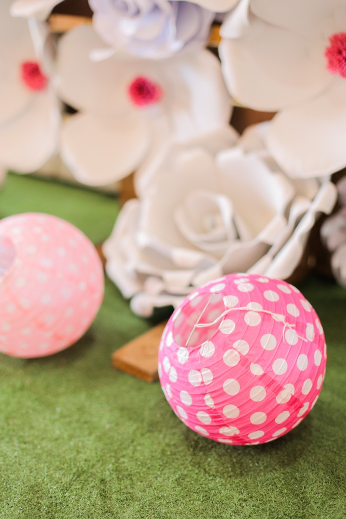 Paper lanterns from a Garden Ballerina Birthday Party on Kara's Party Ideas | KarasPartyIdeas.com (25)