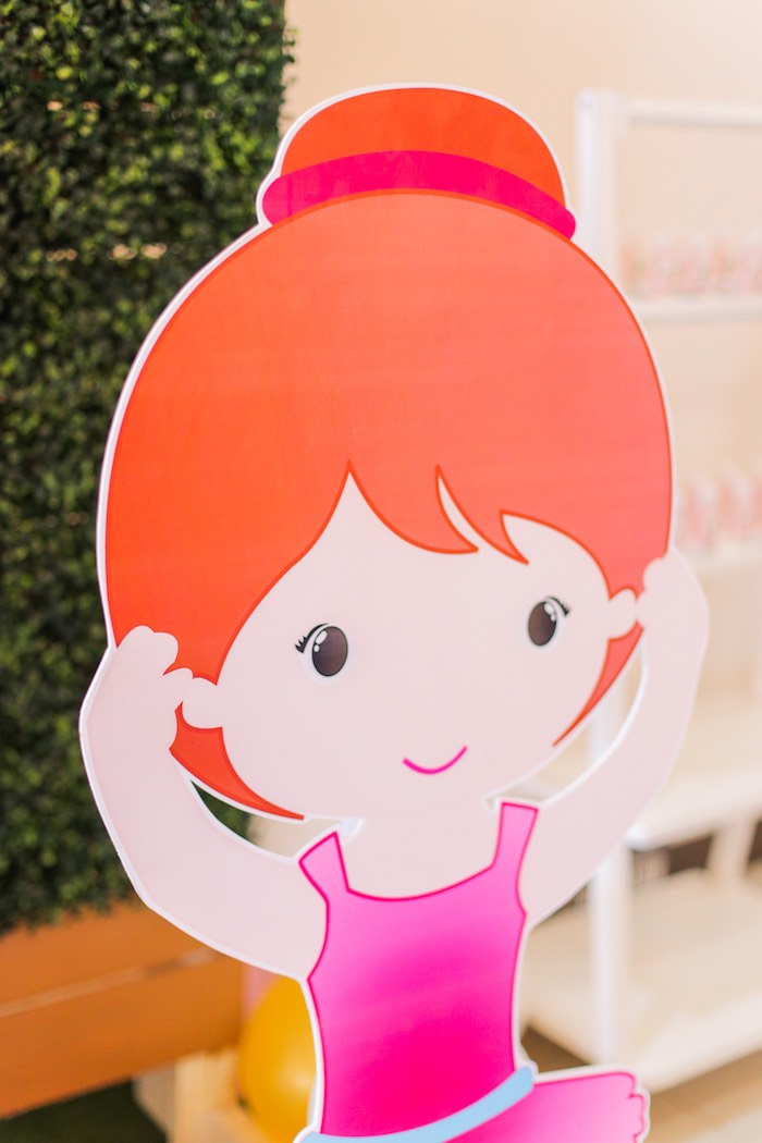 Ballerina standee from a Garden Ballerina Birthday Party on Kara's Party Ideas | KarasPartyIdeas.com (23)