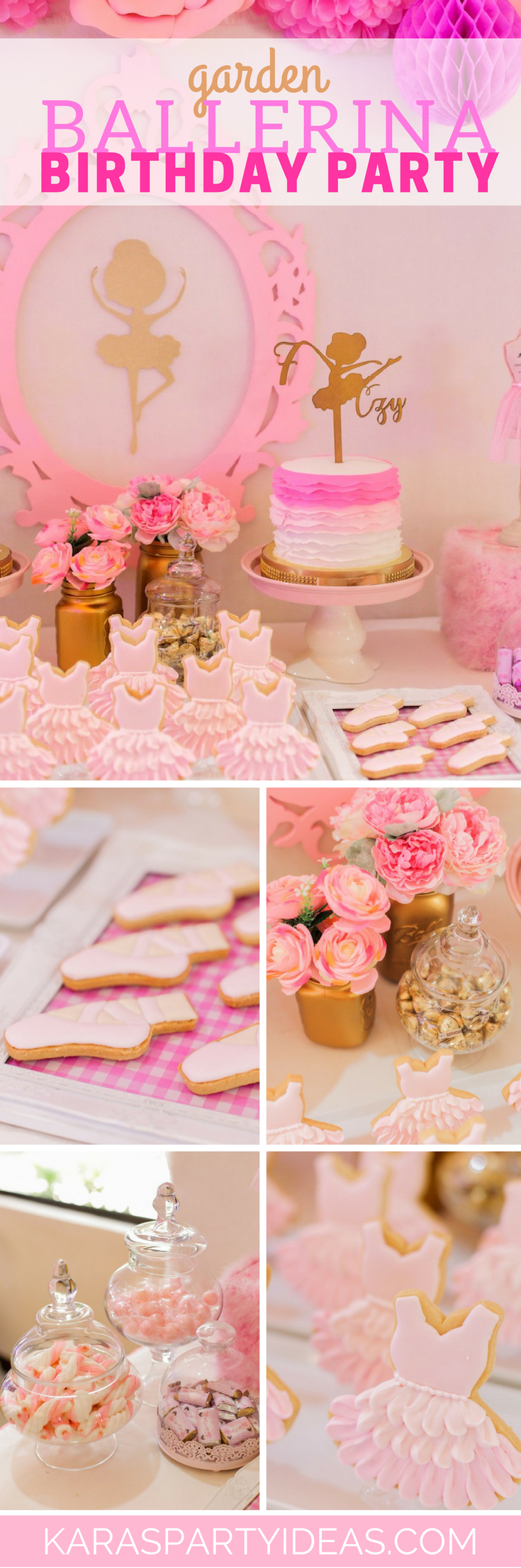 Garden Ballerina Birthday Party via Kara's Party Ideas - KarasPartyIdeas.com