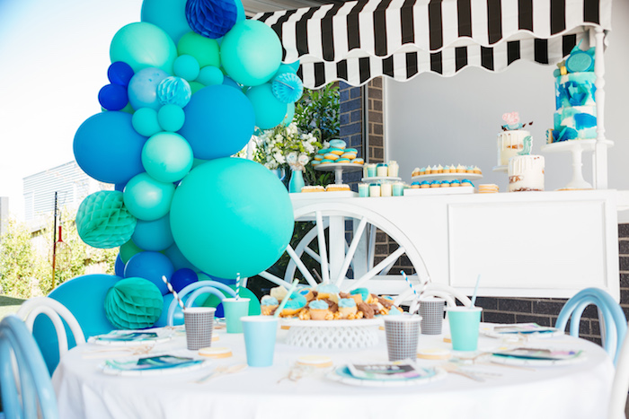 Party tables from a George Pig Birthday Party on Kara's Party Ideas | KarasPartyIdeas.com (6)