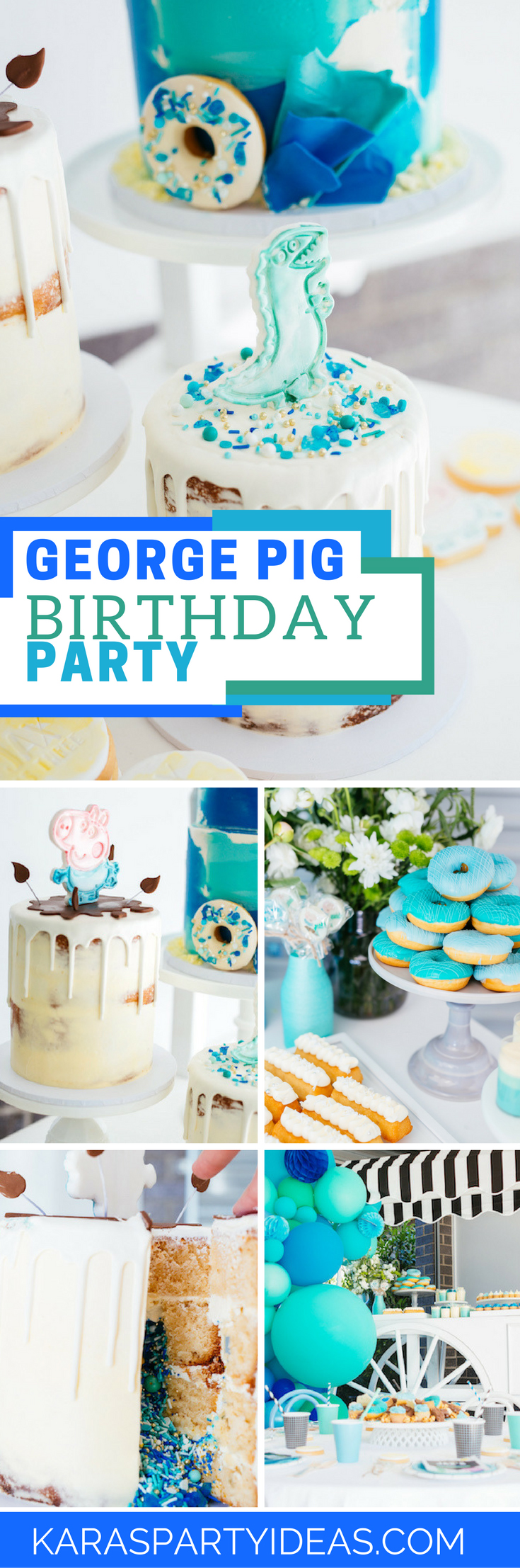 George Pig Birthday Party via Kara's Party Ideas - KarasPartyIdeas.com