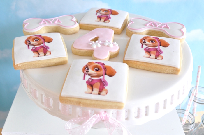 Cookies from a Girly Paw Patrol Birthday Party on Kara's Party Ideas | KarasPartyIdeas.com (14)