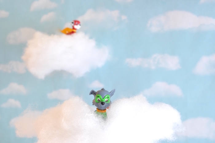 Paw Patrol Cloud Backdrop from a Girly Paw Patrol Birthday Party on Kara's Party Ideas | KarasPartyIdeas.com (12)