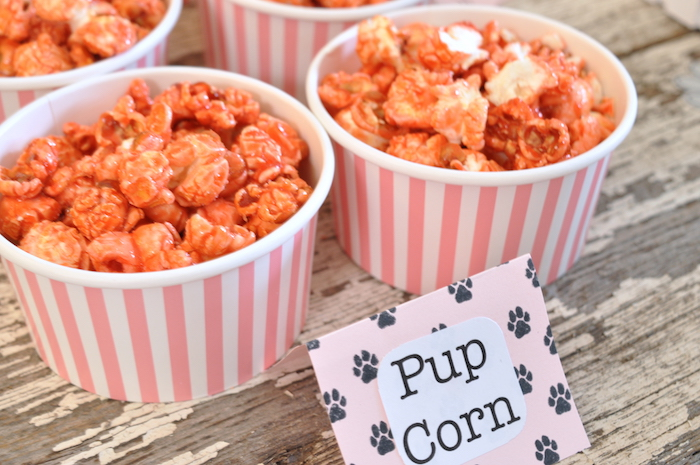 Pup-corn from a Girly Paw Patrol Birthday Party on Kara's Party Ideas | KarasPartyIdeas.com (7)