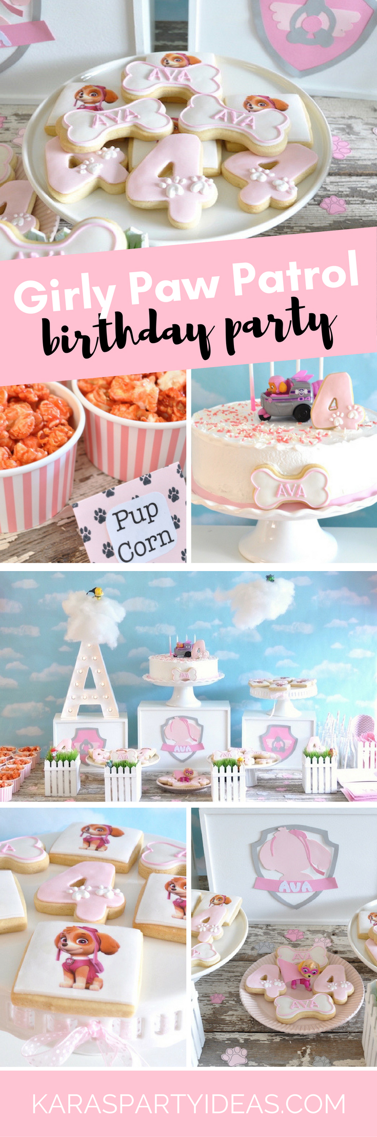 Girly Paw Patrol Birthday Party via Kara's Party Ideas - KarasPartyIdeas.com