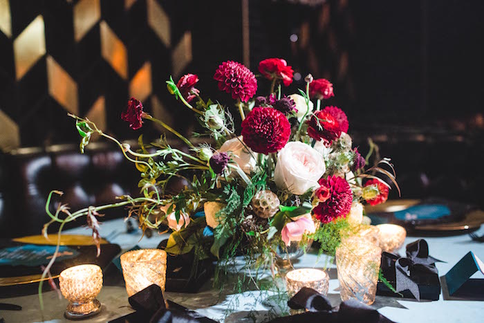 Blooms from a Glam Holiday Progressive Dinner on Kara's Party Ideas | KarasPartyIdeas.com (20)