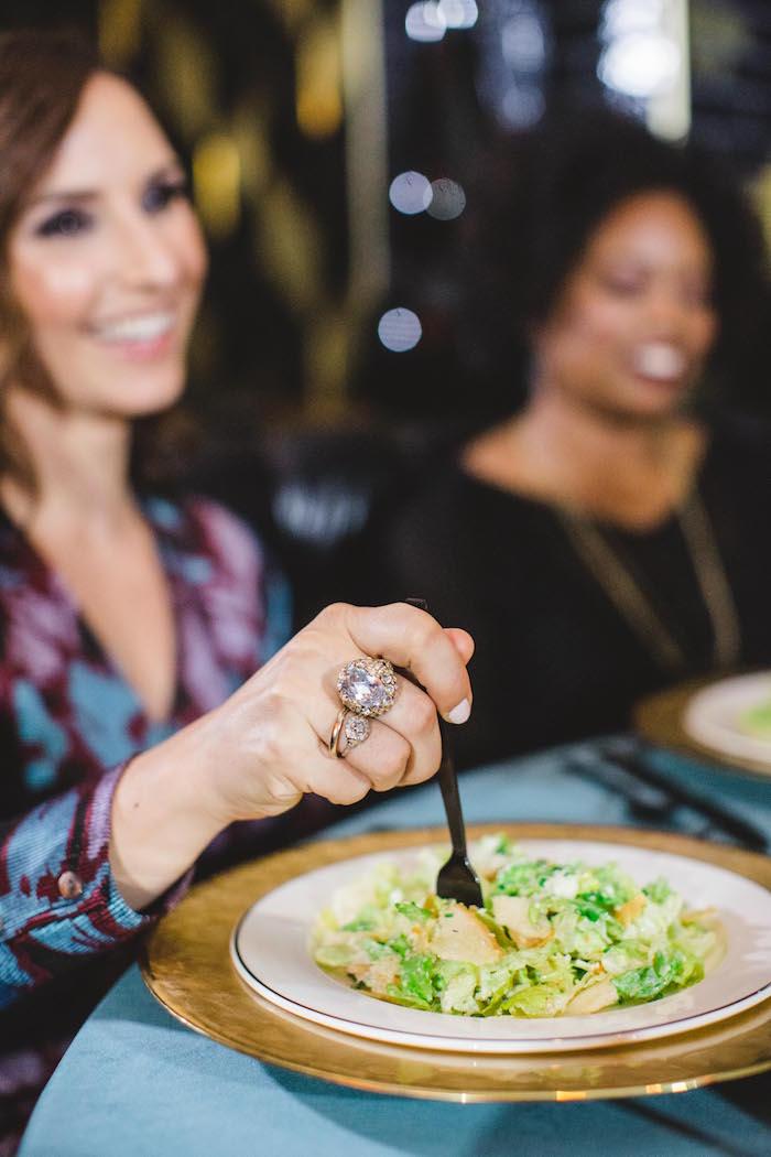 Salad course from a Glam Holiday Progressive Dinner on Kara's Party Ideas | KarasPartyIdeas.com (16)