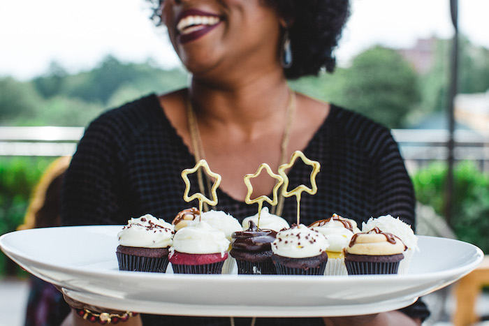 Cupcakes from a Glam Holiday Progressive Dinner on Kara's Party Ideas | KarasPartyIdeas.com (13)