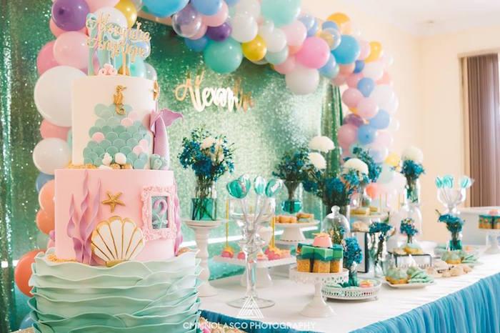 Glamorous Under the Sea Birthday Party on Kara's Party Ideas   KarasPartyIdeas.com (10)