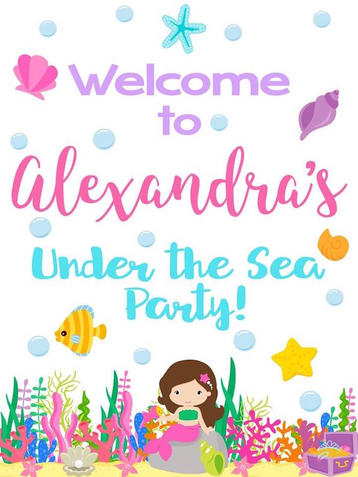 Glamorous Under the Sea Birthday Party on Kara's Party Ideas   KarasPartyIdeas.com (8)