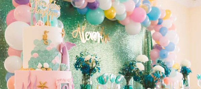 Glamorous Under the Sea Birthday Party on Kara's Party Ideas | KarasPartyIdeas.com (4)