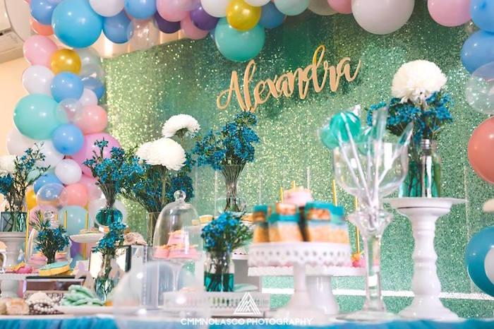 Glamorous Under the Sea Birthday Party on Kara's Party Ideas   KarasPartyIdeas.com (19)