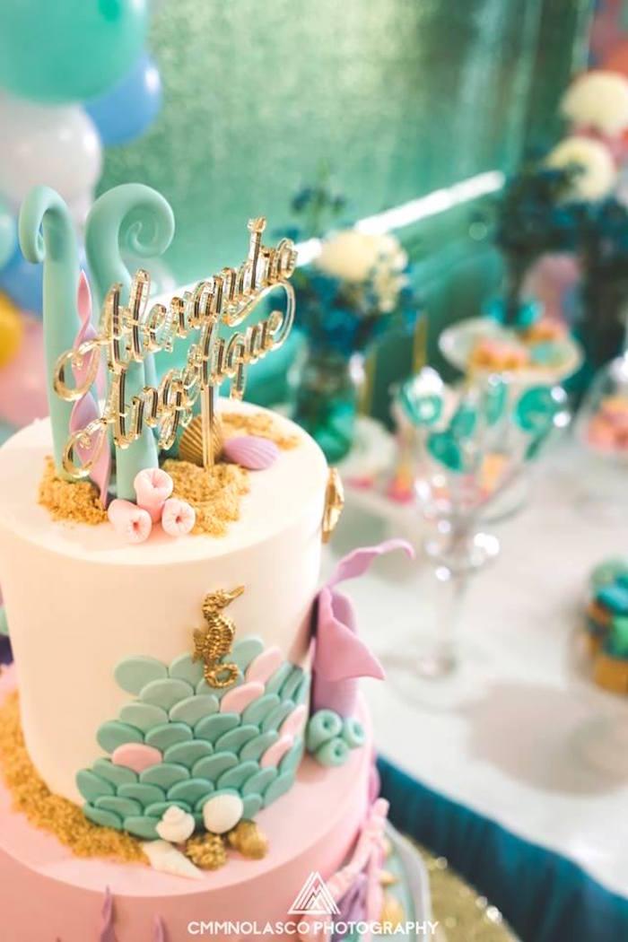 Glamorous Under the Sea Birthday Party on Kara's Party Ideas | KarasPartyIdeas.com (17)
