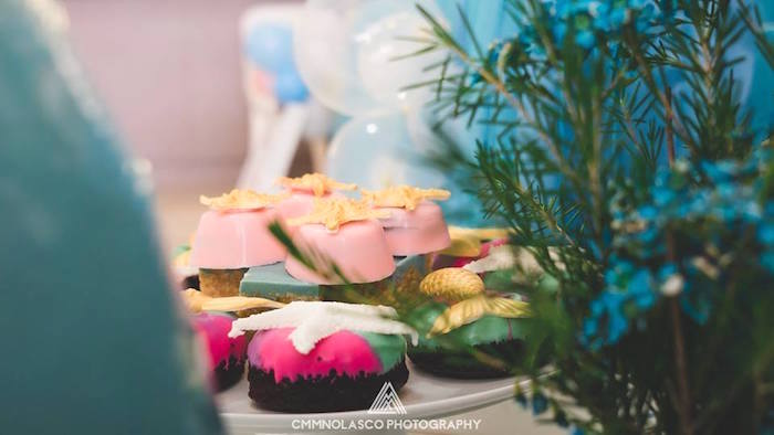 Covered Oreos from a Glamorous Under the Sea Birthday Party on Kara's Party Ideas | KarasPartyIdeas.com (14)