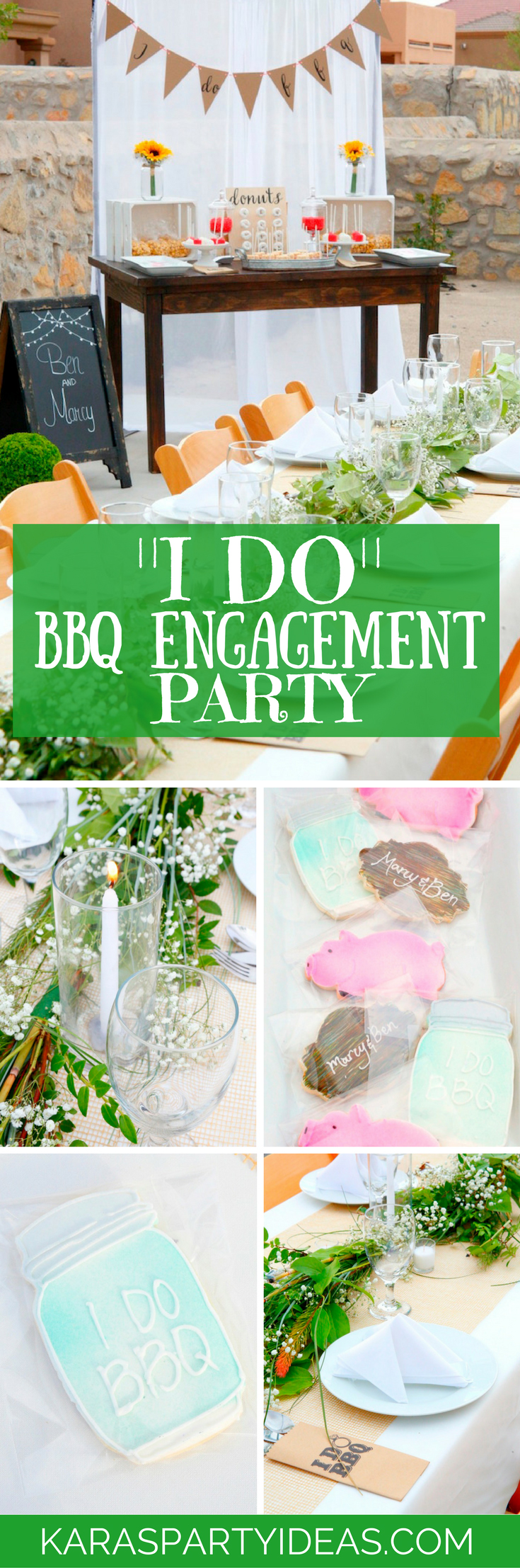 I Do BBQ Engagement Party via Kara's Party Ideas - KarasPartyIdeas.com