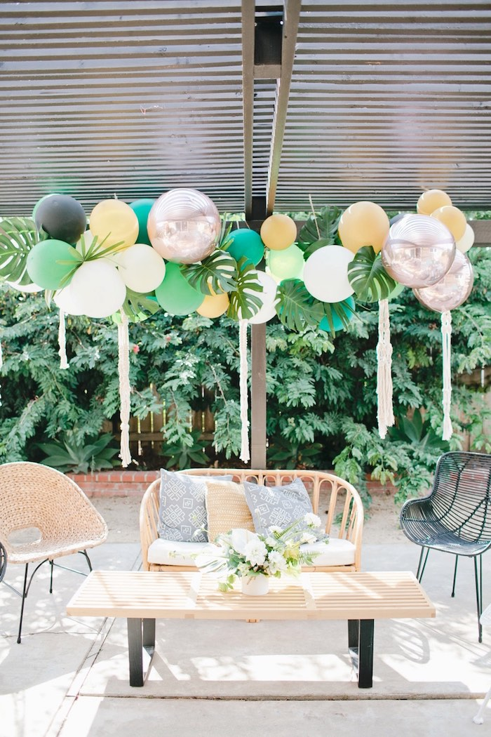 Jungle lounge from a Jungle 1st Birthday Party on Kara's Party Ideas | KarasPartyIdeas.com (40)