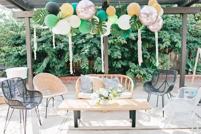 Jungle lounge from a Jungle 1st Birthday Party on Kara's Party Ideas | KarasPartyIdeas.com (39)