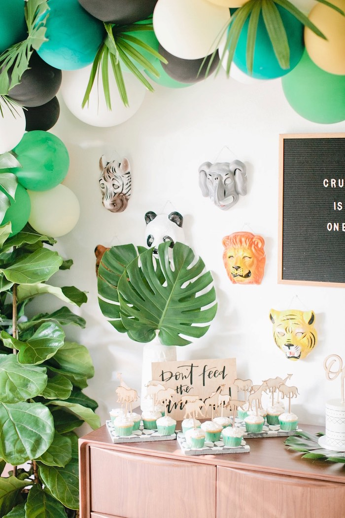 Jungle 1st Birthday Party on Kara's Party Ideas | KarasPartyIdeas.com (13)