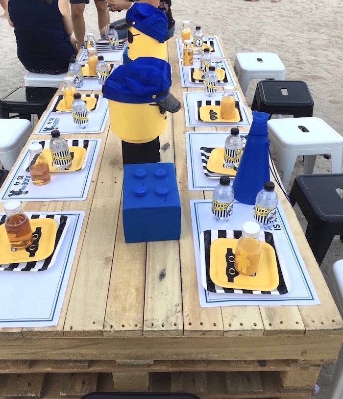 Guest tablescape from a Lego Police Birthday Party on Kara's Party Ideas | KarasPartyIdeas.com (15)