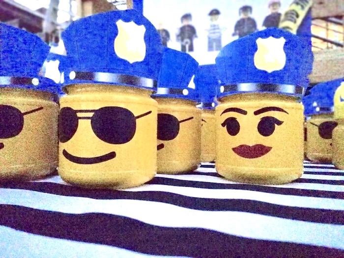 Lego Officer Favors from a Lego Police Birthday Party on Kara's Party Ideas | KarasPartyIdeas.com (8)