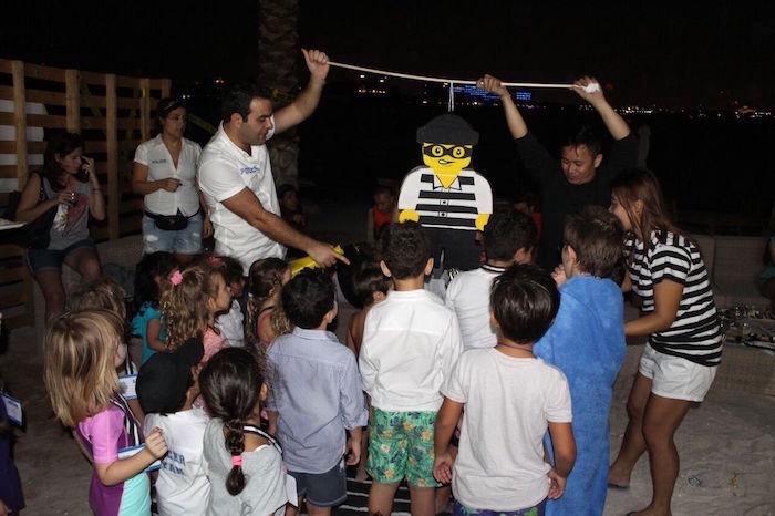 Bandit pinata from a Lego Police Birthday Party on Kara's Party Ideas | KarasPartyIdeas.com (24)
