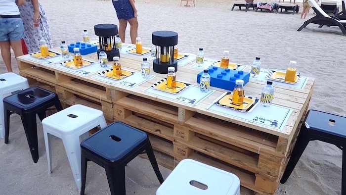 Guest table from a Lego Police Birthday Party on Kara's Party Ideas | KarasPartyIdeas.com (17)