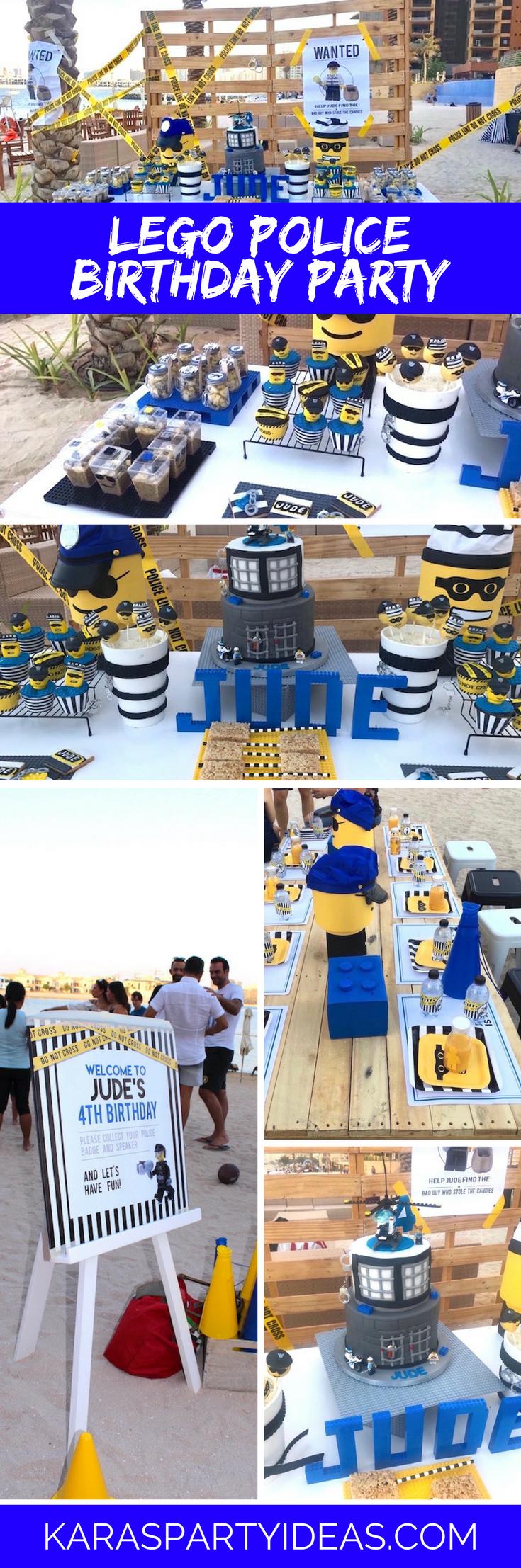 Lego Police Birthday Party via Kara's Party Ideas - KarasPartyIdeas.com
