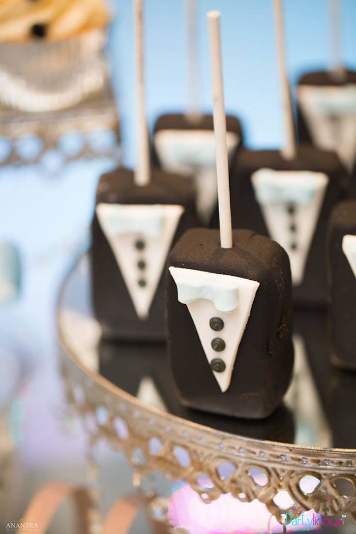 Tuxedo Krispies from a Little Man Birthday Party on Kara's Party Ideas | KarasPartyIdeas.com (22)