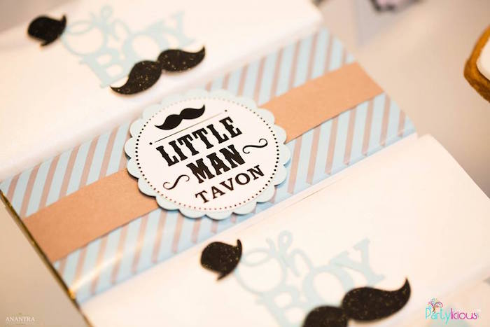 Little Man candy bar wrapper from a Little Man Birthday Party on Kara's Party Ideas | KarasPartyIdeas.com (11)