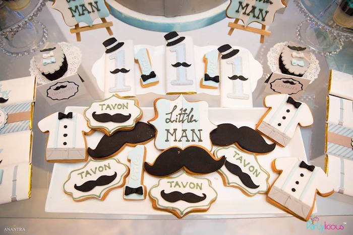 Cookies from a Little Man Birthday Party on Kara's Party Ideas | KarasPartyIdeas.com (27)