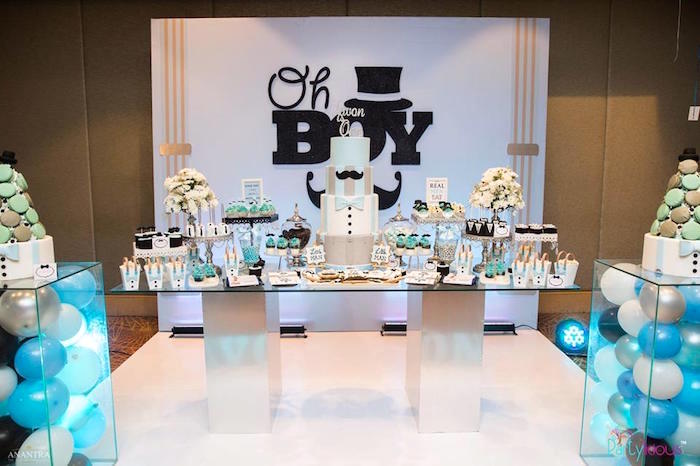 Dessert table from a Little Man Birthday Party on Kara's Party Ideas | KarasPartyIdeas.com (24)