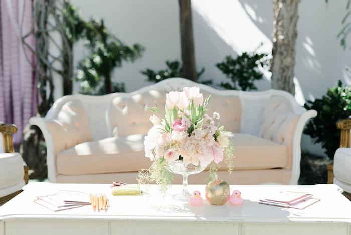 Lounge table from a Little Pumpkin Baby Shower on Kara's Party Ideas   KarasPartyIdeas.com (35)