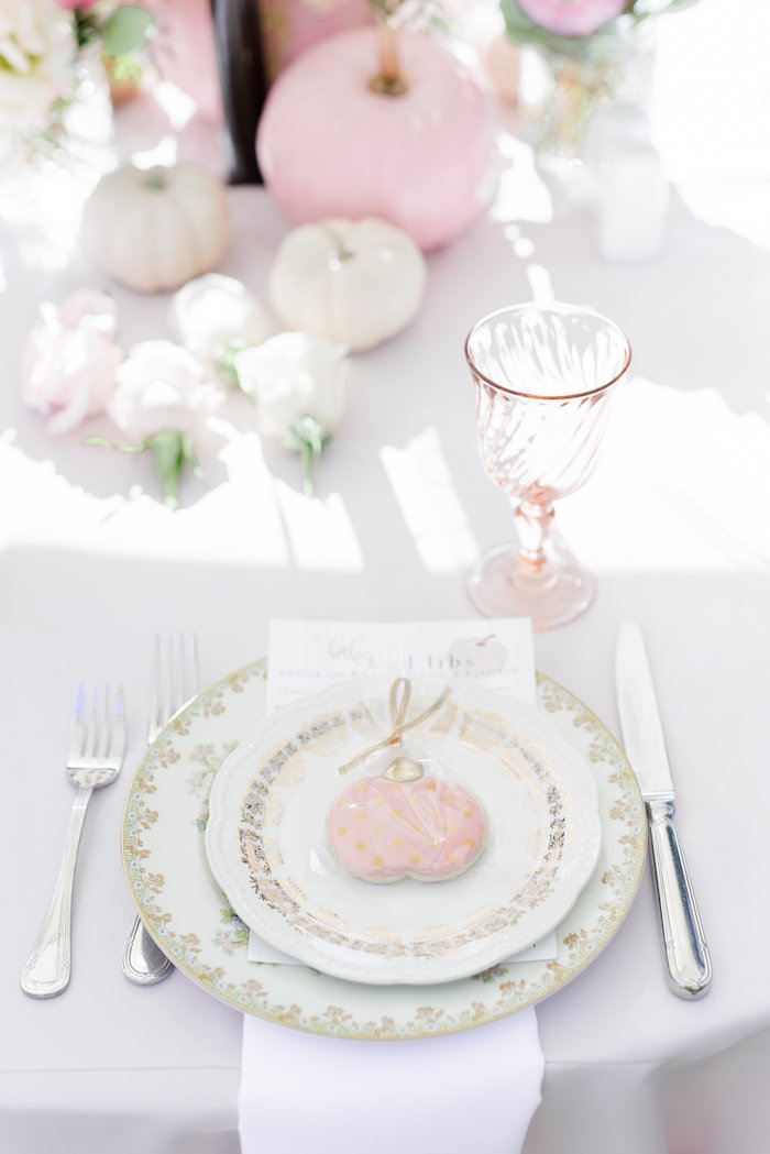 Place setting from a Little Pumpkin Baby Shower on Kara's Party Ideas | KarasPartyIdeas.com (30)