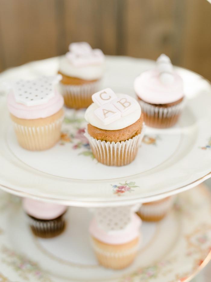 Cupcakes from a Little Pumpkin Baby Shower on Kara's Party Ideas   KarasPartyIdeas.com (23)
