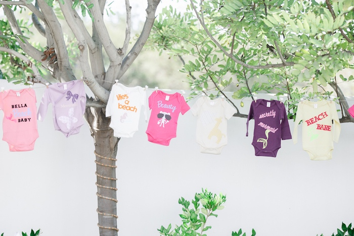 Onesie garland from a Little Pumpkin Baby Shower on Kara's Party Ideas | KarasPartyIdeas.com (17)