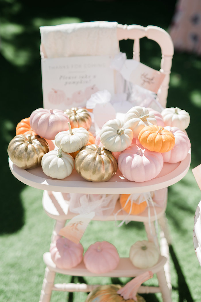 Pretty pumpkin favors from a Little Pumpkin Baby Shower on Kara's Party Ideas | KarasPartyIdeas.com (12)