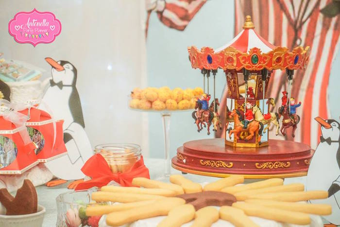 Carousel from a Mary Poppins Birthday Party on Kara's Party Ideas | KarasPartyIdeas.com (11)