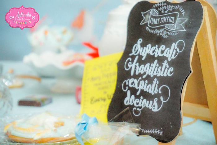 Supercali....chalkboard signage from a Mary Poppins Birthday Party on Kara's Party Ideas | KarasPartyIdeas.com (21)