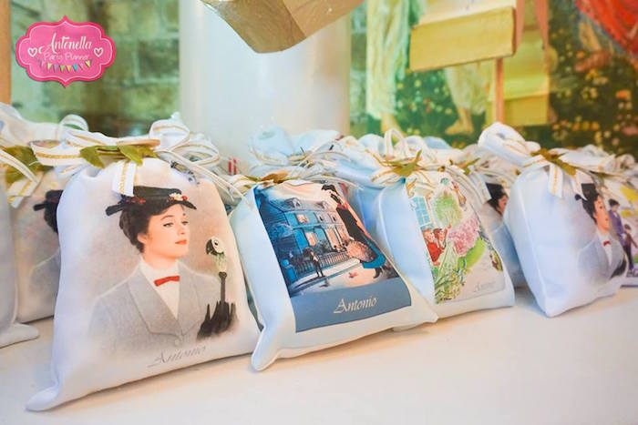 Mary Poppins themed gift bags from a Mary Poppins Birthday Party on Kara's Party Ideas | KarasPartyIdeas.com (20)