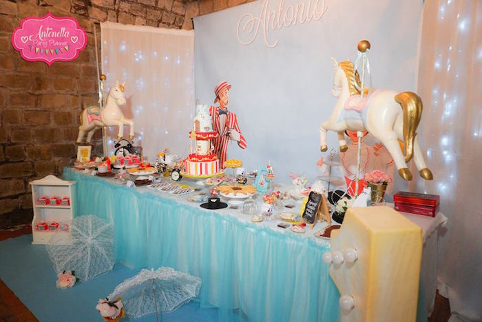 Dessert table from a Mary Poppins Birthday Party on Kara's Party Ideas | KarasPartyIdeas.com (15)